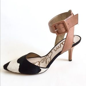 Sam Edelman Okala Ankle Calf Hair Pumps Shoes 8.5